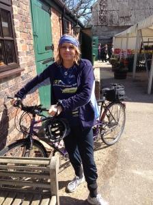 photo of pam on bike
